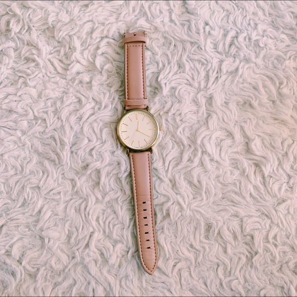 Francesca's Collections Accessories - Light Pink Rose Gold Watch